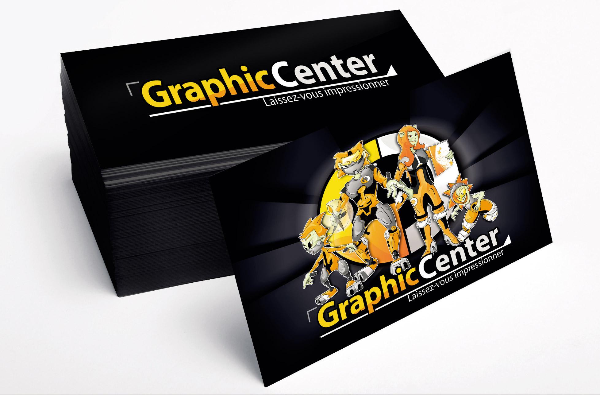 Création et réalisation impression Cartes de visite Graphiccenter Tournai leuze peruwelz mons